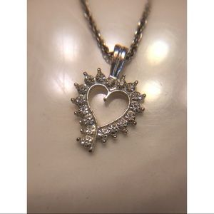 Heart necklace with gems ♥️💎